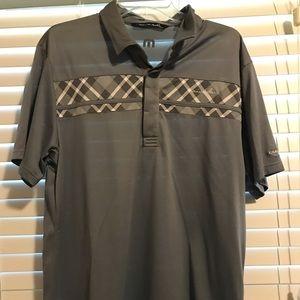 Men's Travis Mathew golf polo.